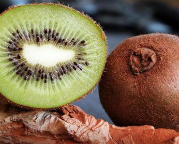 eating kiwi